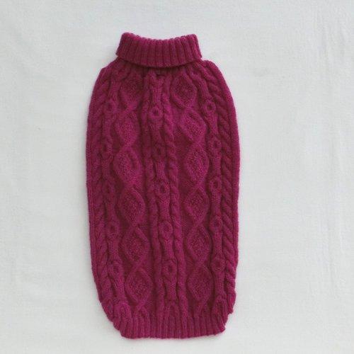 *vendu..manteau pull en laine pour chien, cocker, anglais/américain, caniche, westie, vêtement tricot point irlandais mode animaux