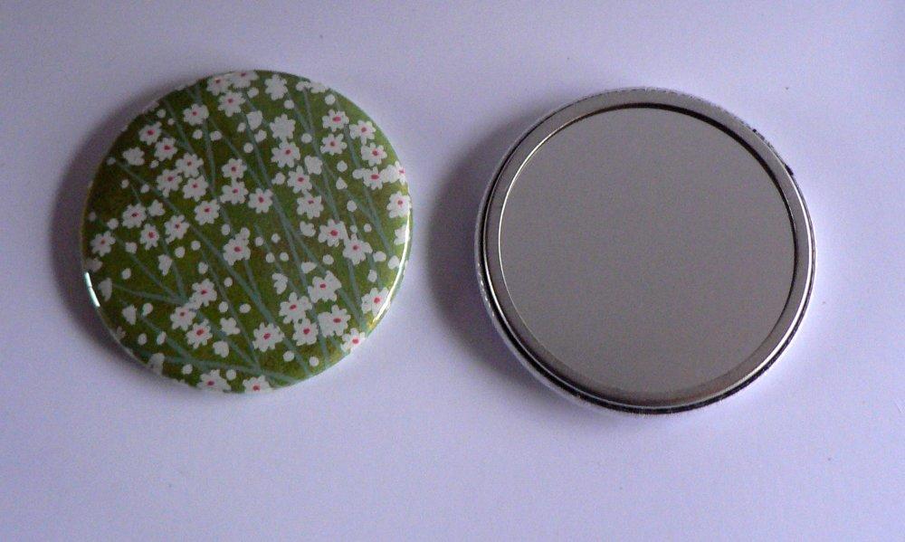 Miroir de poche 56mm Papier Japonais.