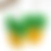 Boucles d'oreilles en pâte fimo ananas jaune/vert
