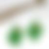 Boucles d'oreilles en pâte fimo cactus vert