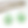 Boucles d'oreilles en pâte fimo donuts vert/blanc