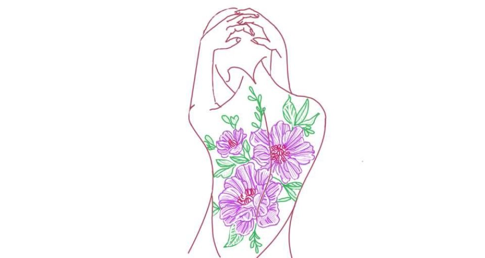 Femme fleurie #6