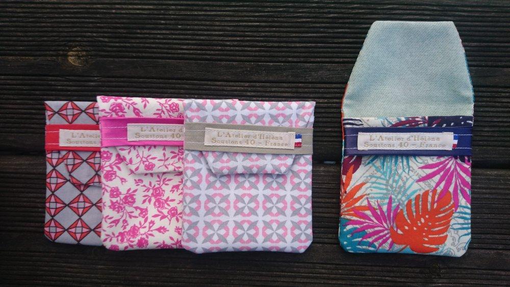 Etui à savon - pochette à shampoing ou déodorant solide - coloris au choix