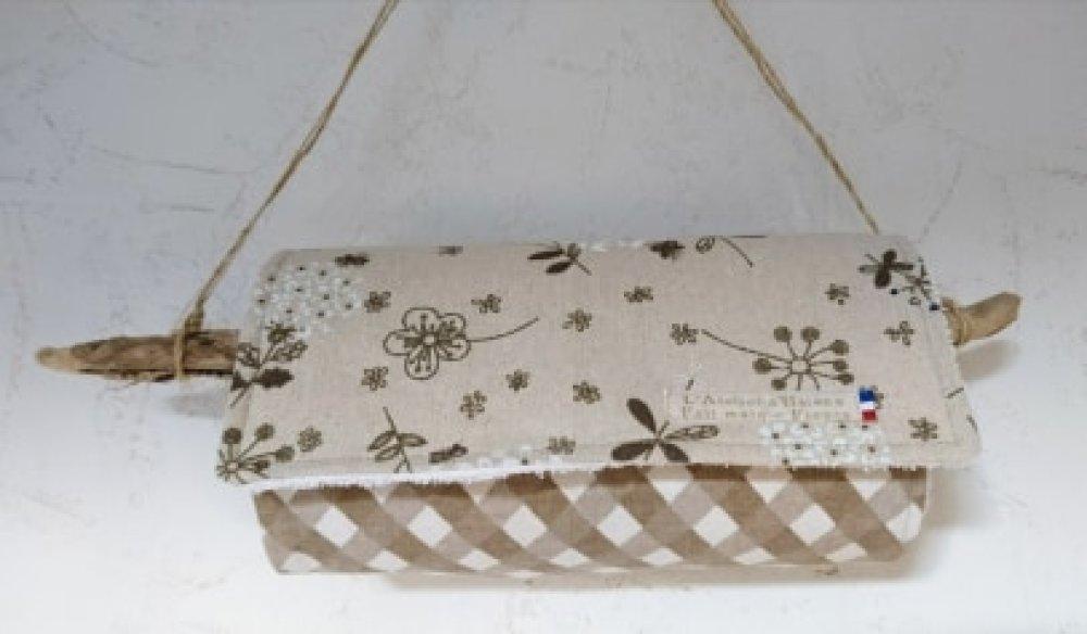 Rouleau d'essuie-tout lavable 8 feuilles éponge et coton