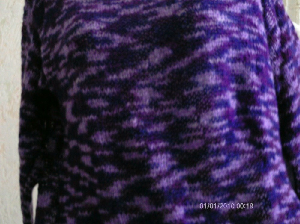 pull femme mohair mauve