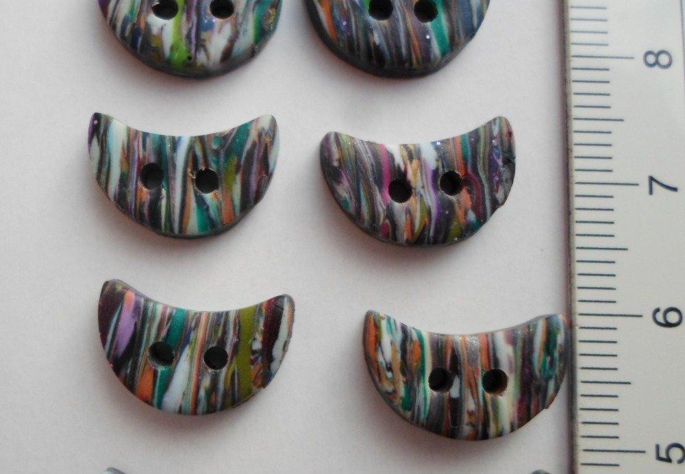 Lot petits boutons 3 formes différentes - Fimo