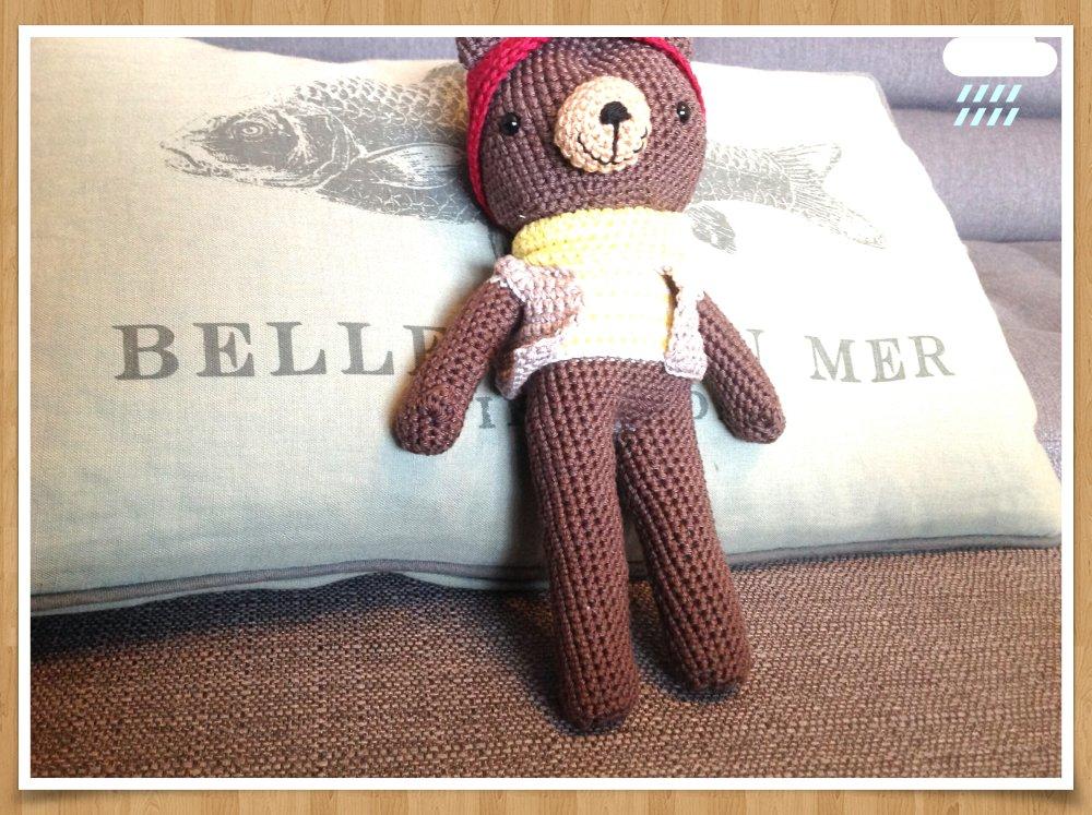 Doudou Ours poupée à habiller au crochet