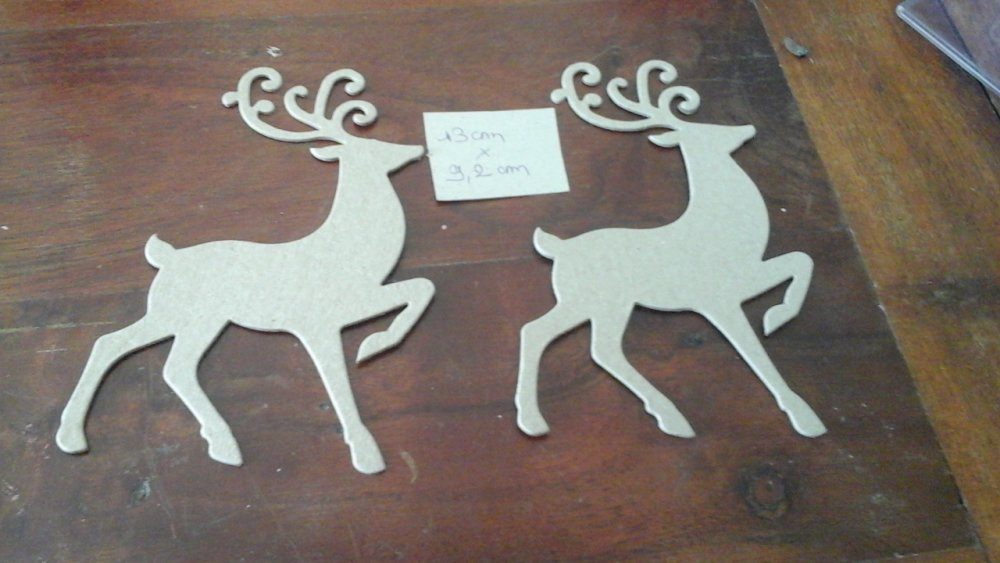 Lot de 2 cerfs scrapbooking