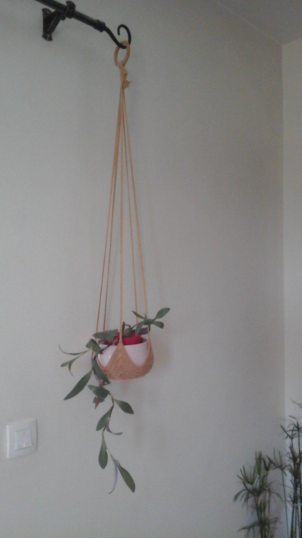 Suspension pour plante au crochet