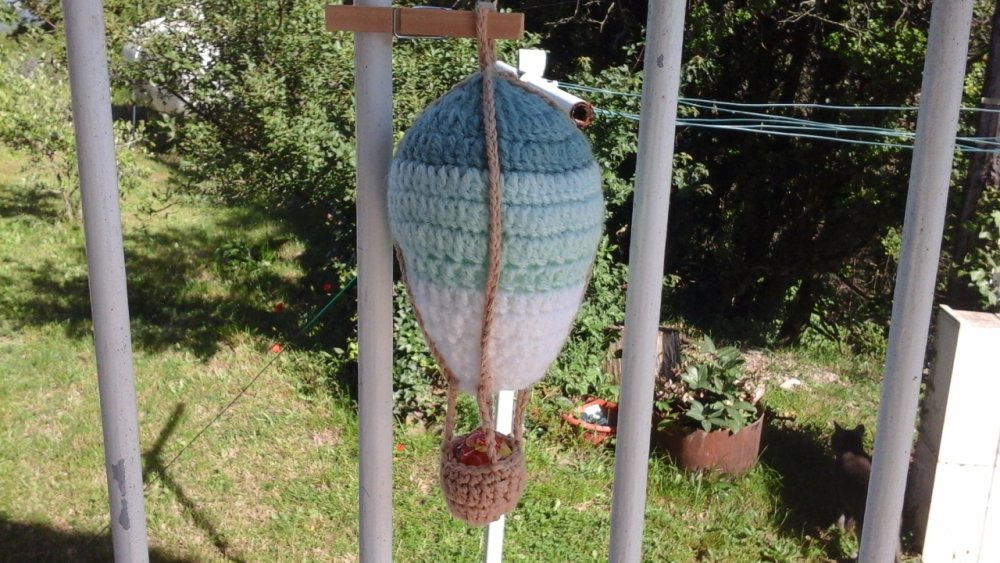 Suspension montgolfier au  crochet