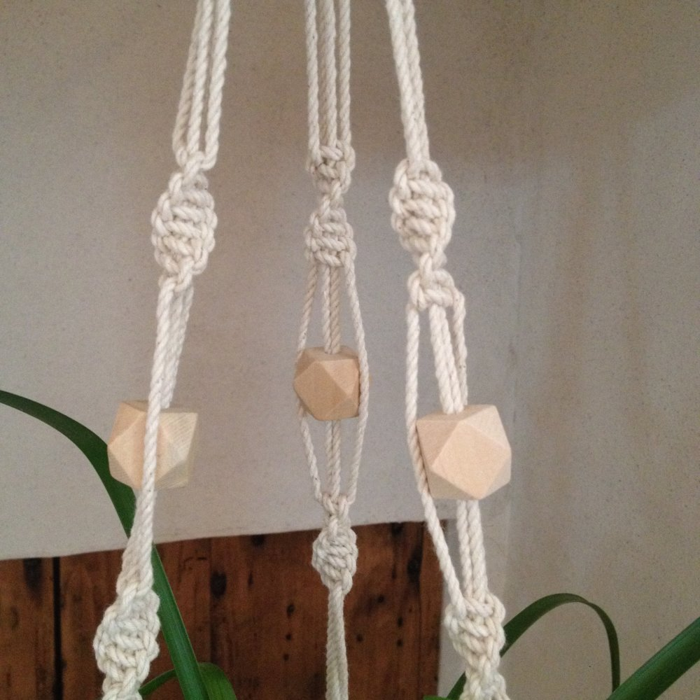 Porte-plantes / suspension macramé