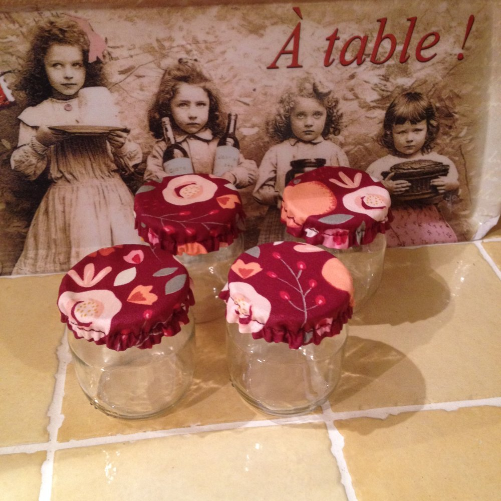 Couvercles pour pots de yaourt - charlottes -