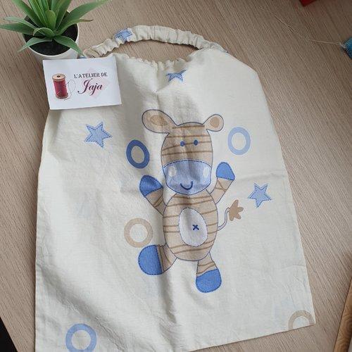 Bavoir élastiqué/ serviette de table enfant