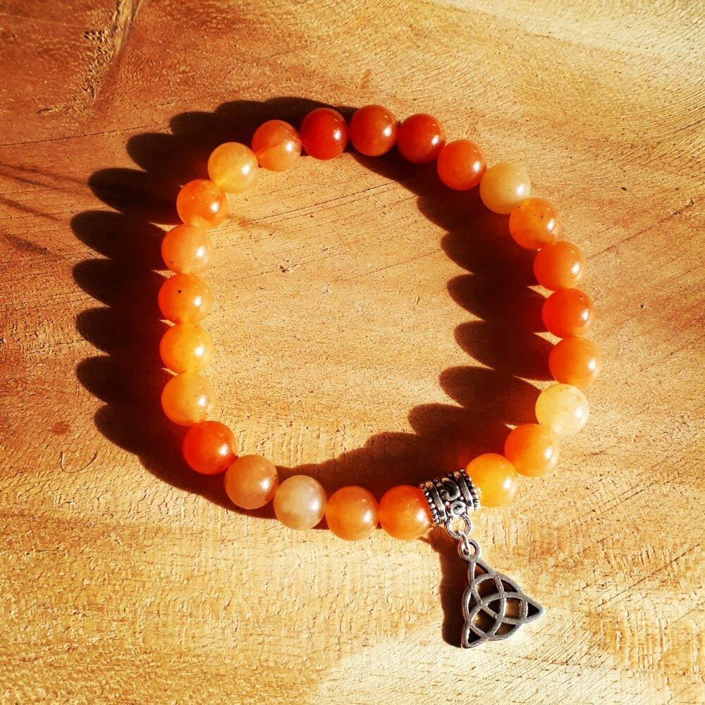 bracelet pour homme en pierre naturelle en aventurine