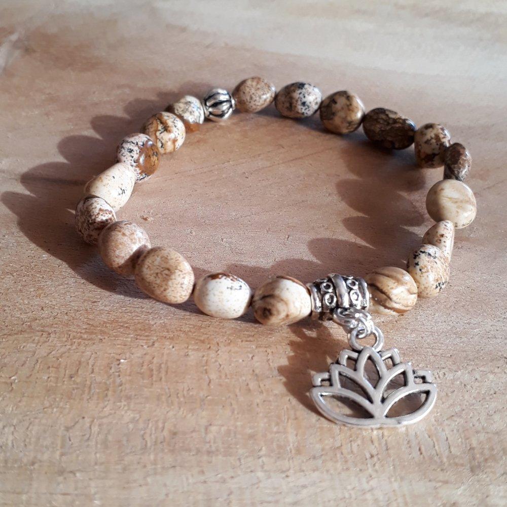 bracelet en pierre naturelle,en jaspe