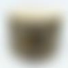 Boucles d'oreille bouton de fleur en oeil de tigre et quartz , pierre naturelle