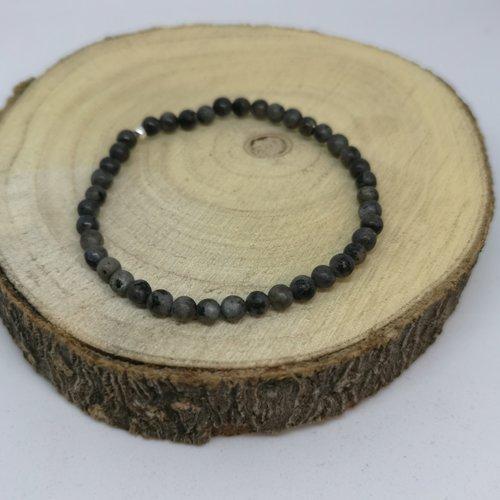 "Bracelet femme en pierre naturelle, en labradorite "" tout en finesse"""