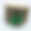 Boucles d'oreille acier, goutte en jade, pierre naturelle