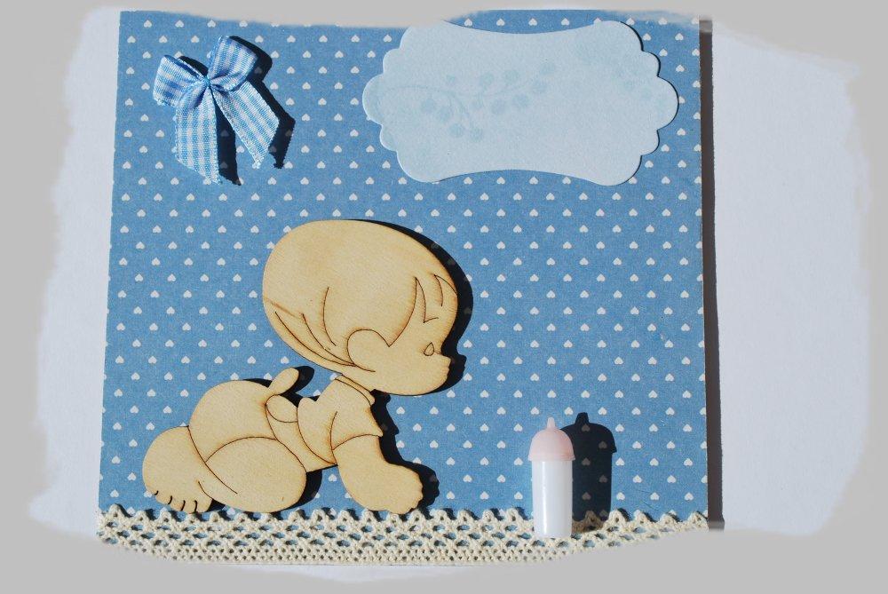 "petit tableau bleu ""baby"""