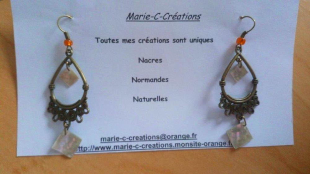 Dormeuse Nacre Normande support couleur bronze