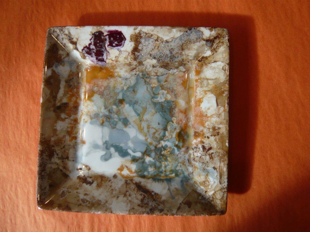 Vide poche en porcelaine peint à la main