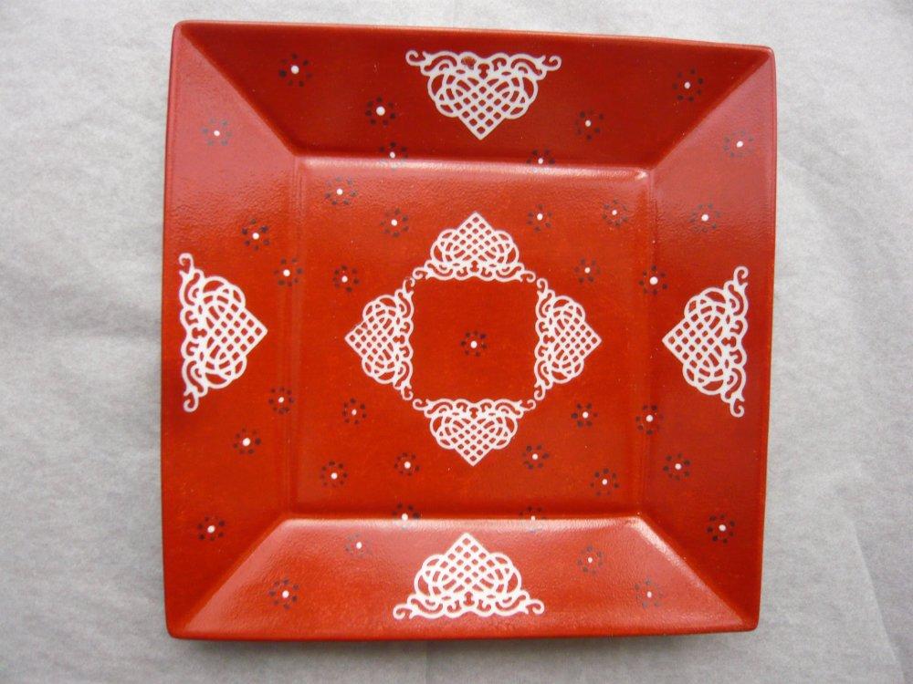 """Vide poche """"Arabesque"""" en porcelaine peint à la main, modèle unique"""