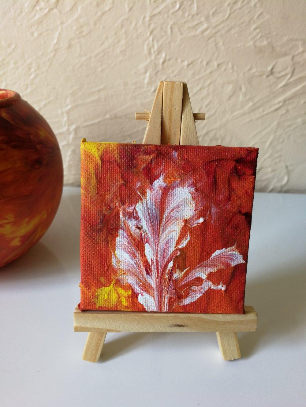 Mini tableau orange