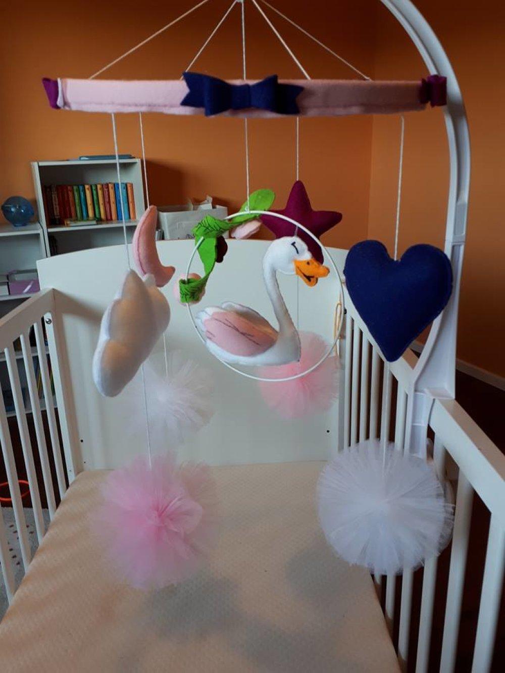 Mobile Bébé À Suspendre Au Plafond mobile bébé 2 étages cygne (vendu)