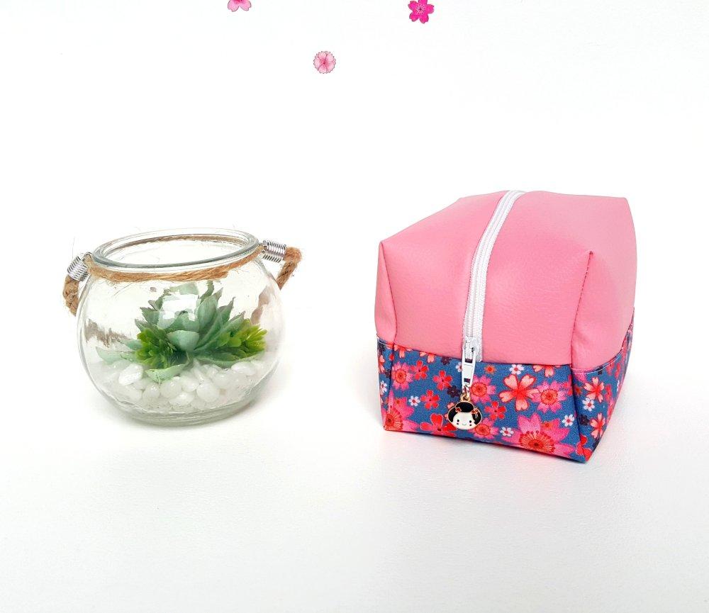 "Mini-trousse ""Sakura"" 8 x 12 x 10 cm"