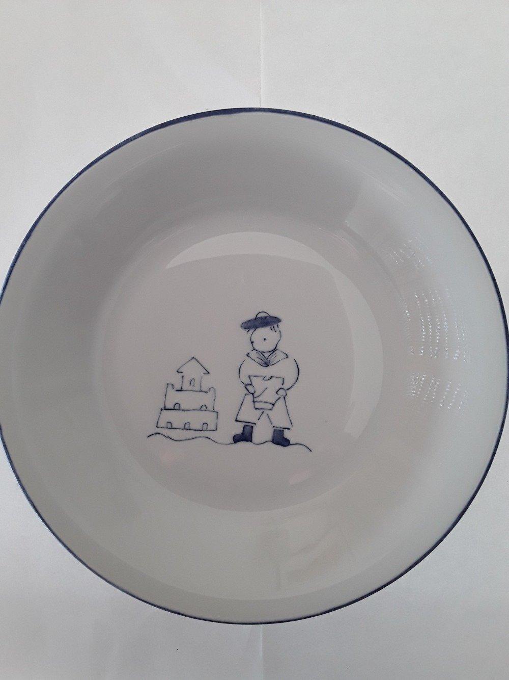 assiette bébé 'petit mousse' porcelaine