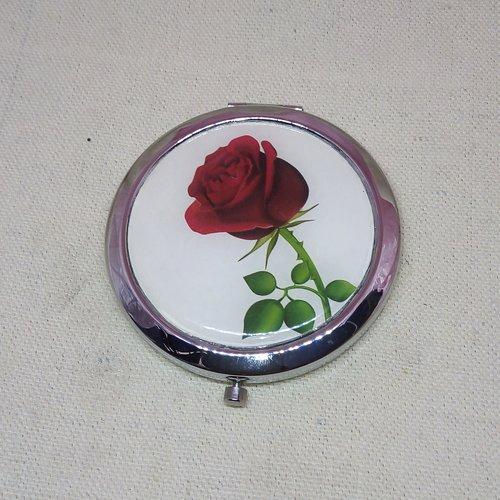 """Miroir de poche """"rose rouge"""""""
