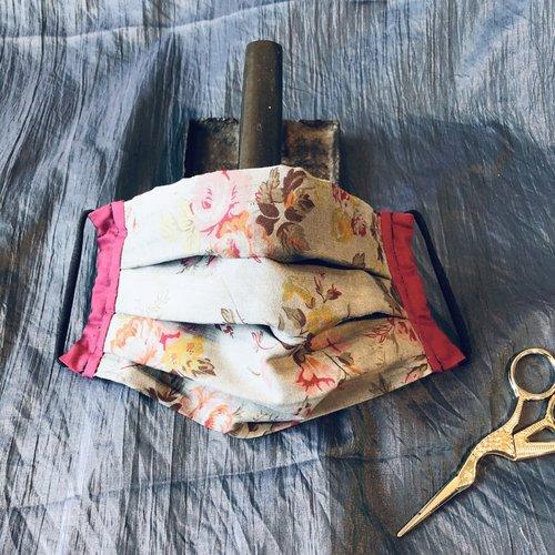 Masque de protection barrière en tissu lavable