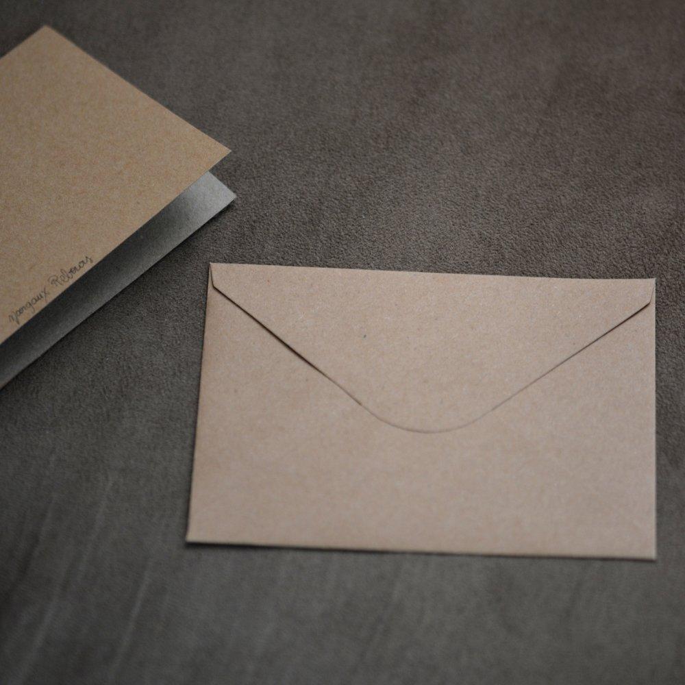Carte postale et enveloppe - Pissenlit