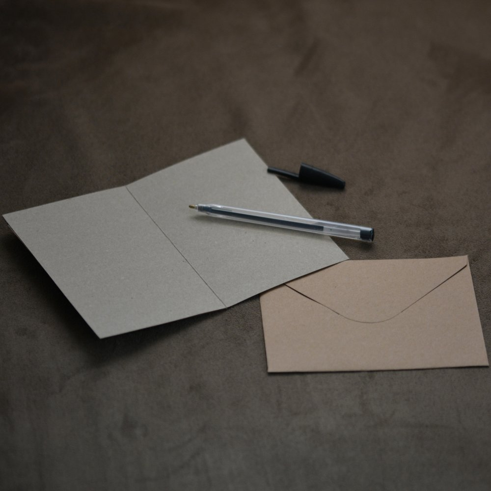Carte postale et enveloppe - Château