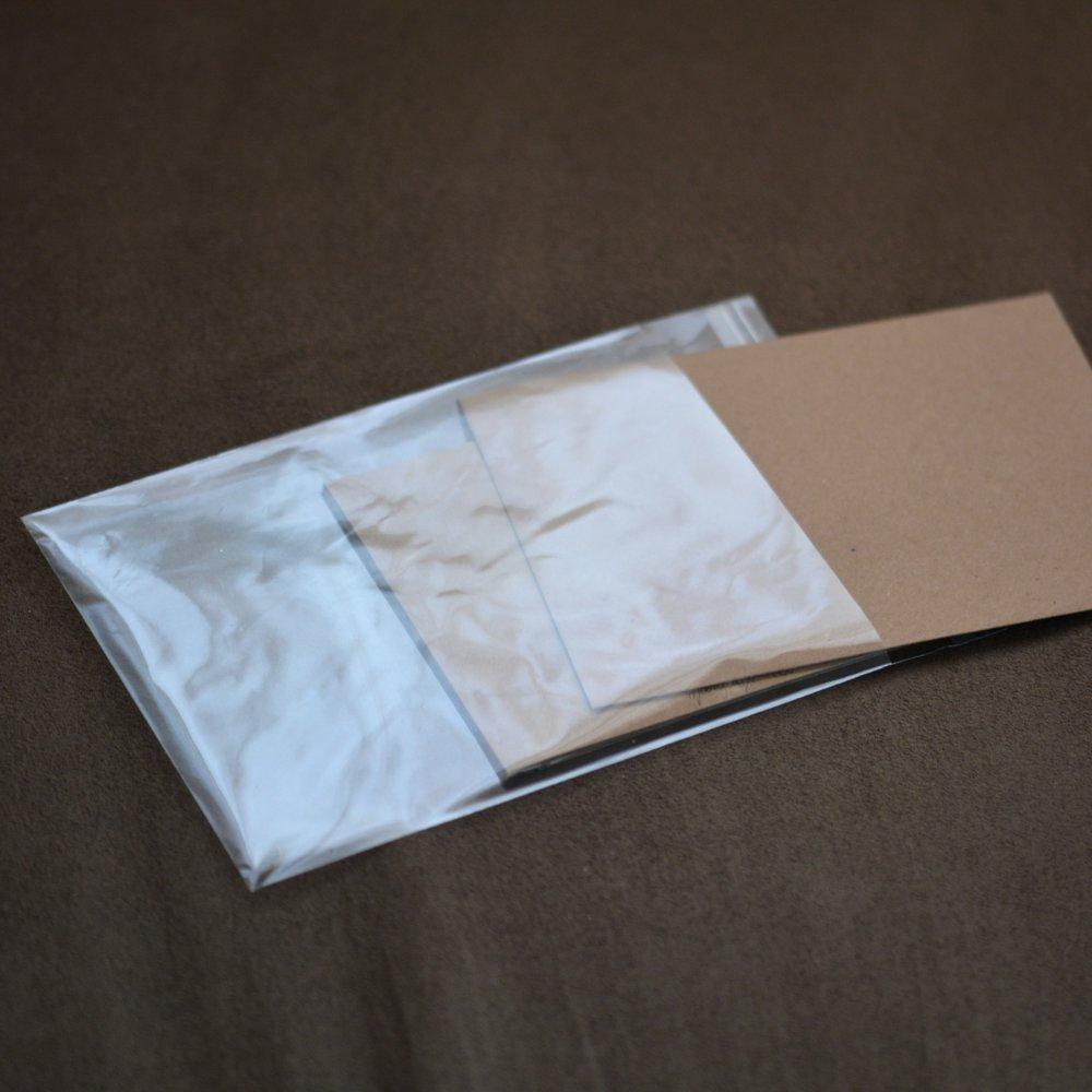 Carte postale et enveloppe - Toile d'araignée