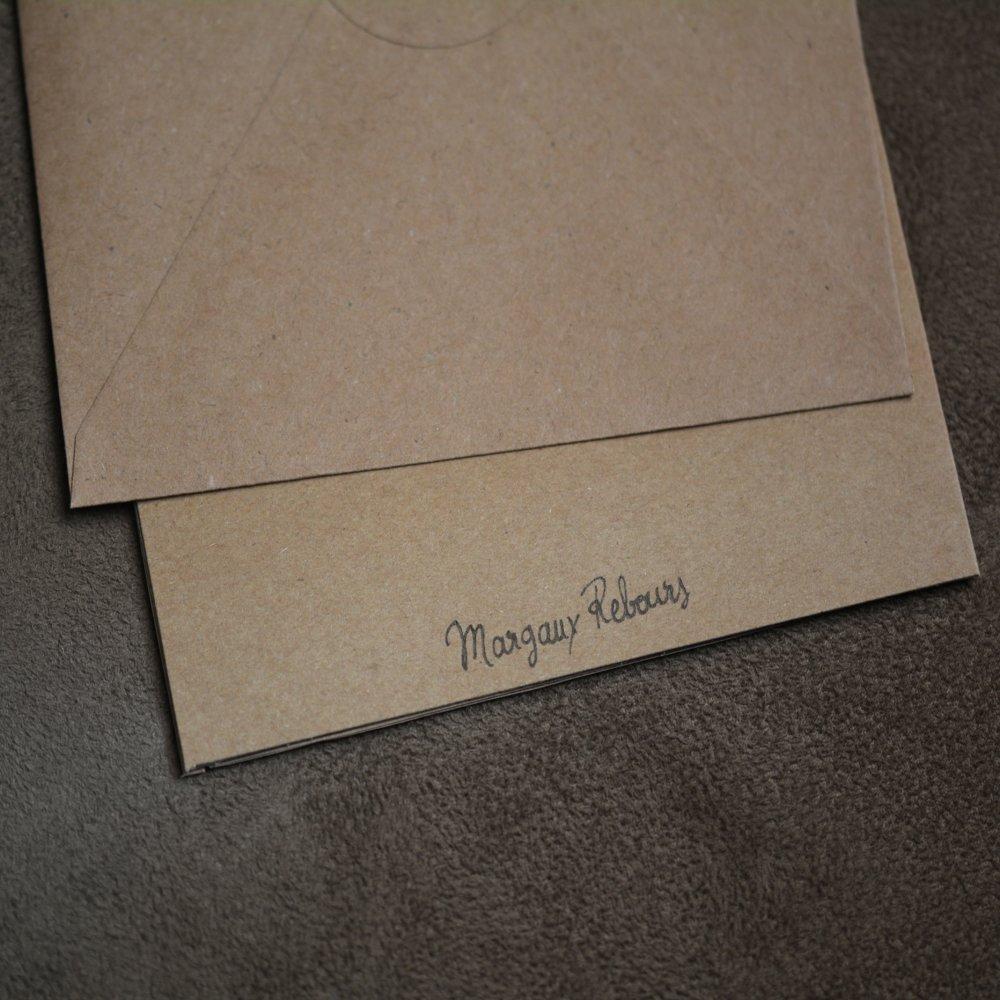 Carte postale et enveloppe - Grenouille