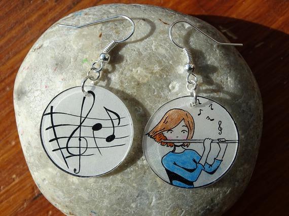 boucles d'oreilles pour les musiciennes