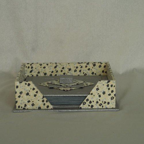 Porte serviettes à cocktail gris - cartonnage