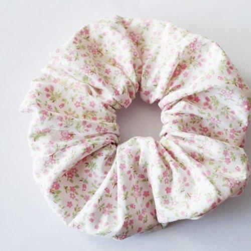 Chouchou élastique tissu à petits fleurs