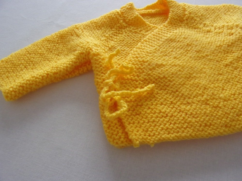 brassière cache coeur jaune taille prématuré