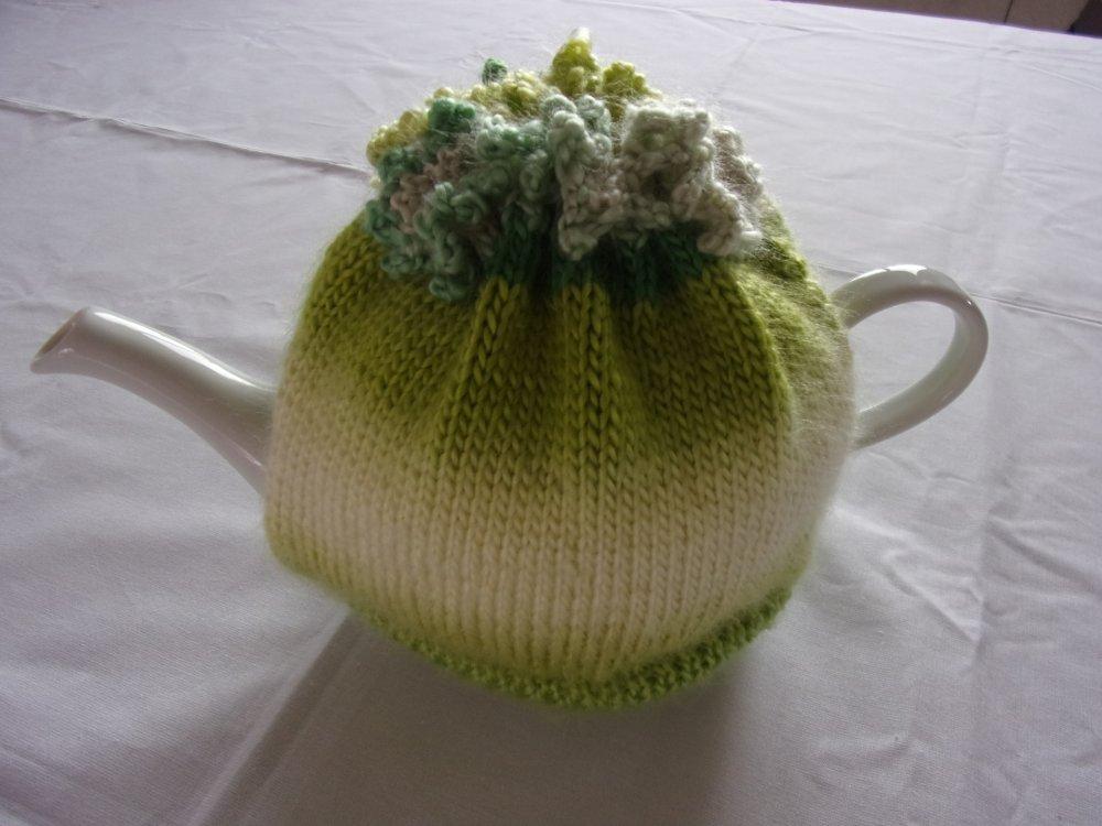 housse de théière verte
