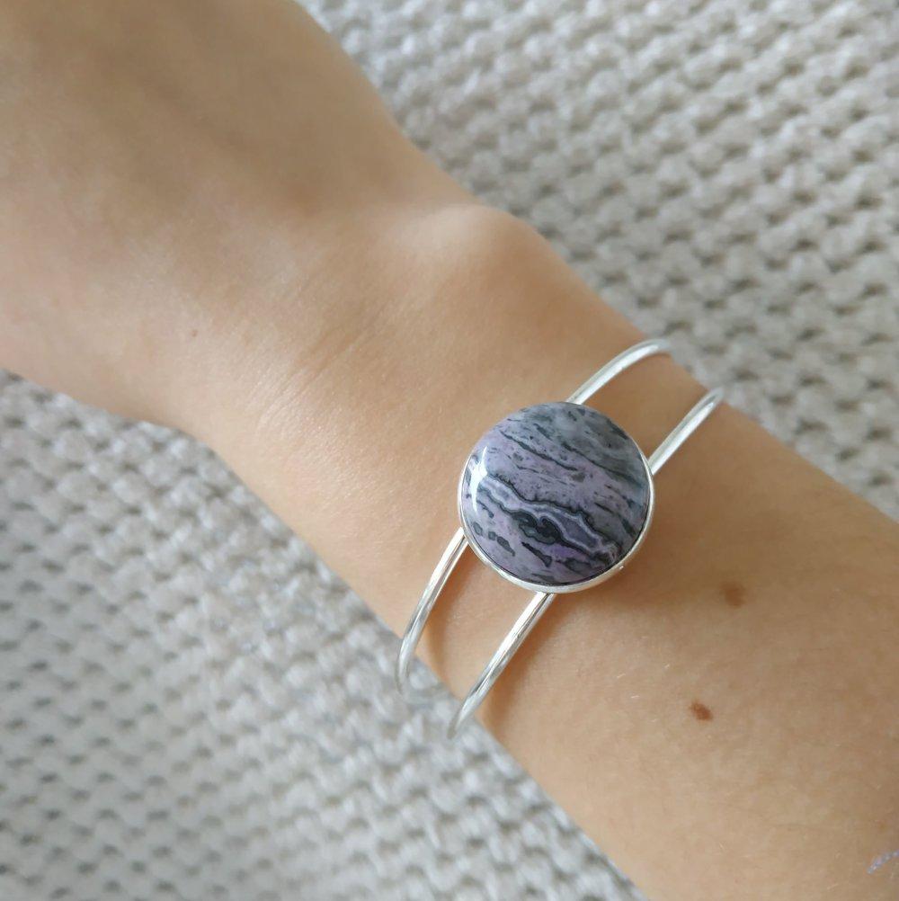 bracelet jonc pierre naturelle