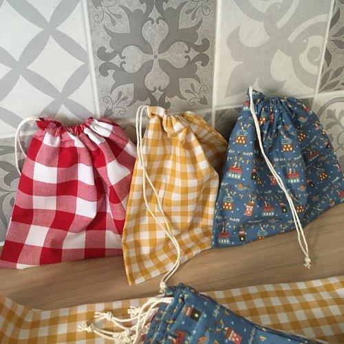 Lot de 3 sacs à vrac