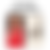 Collier gigi hadid tapis rouge en cuir argent ciselé