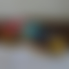 Trousse écolier, coton enduit, fleurs colorées