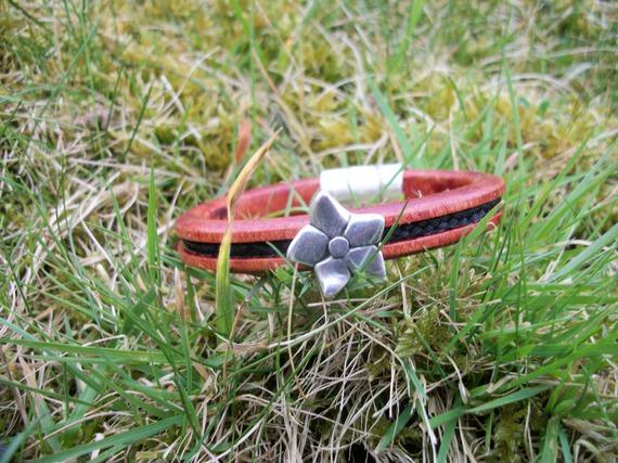 Bracelet en cuir et crin de cheval personnalisable, tressage rond, perle en métal