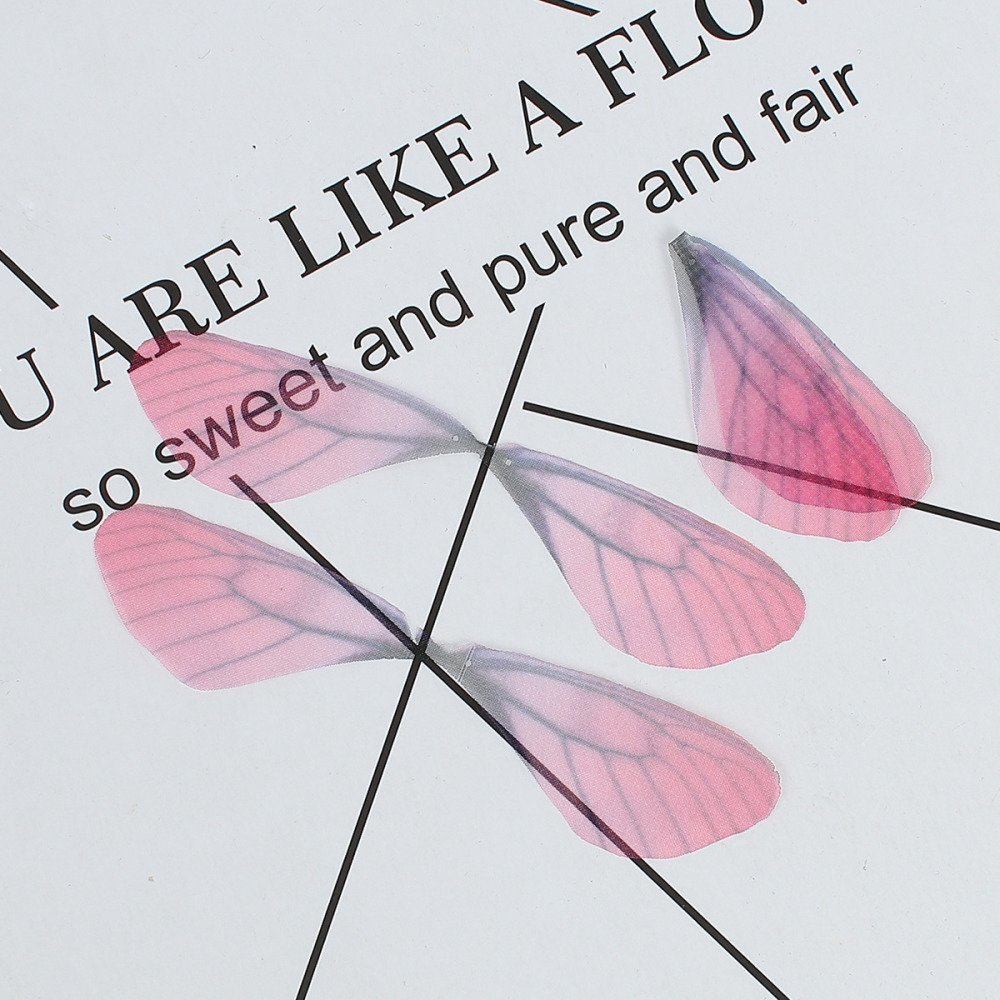 Aile de papillon en organza couleur Fuchsia