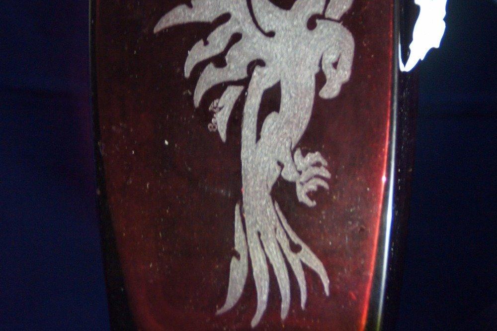 vase carre rouge  model phœnix