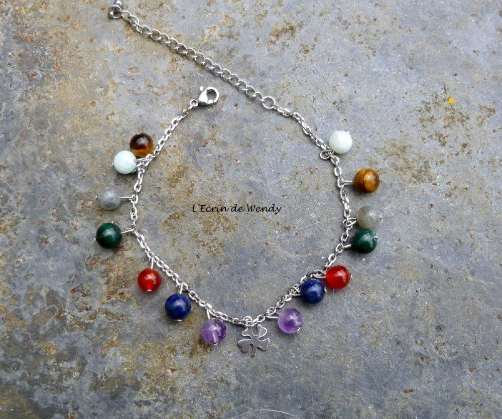 Bracelet 7 chakras de Pierres Fines
