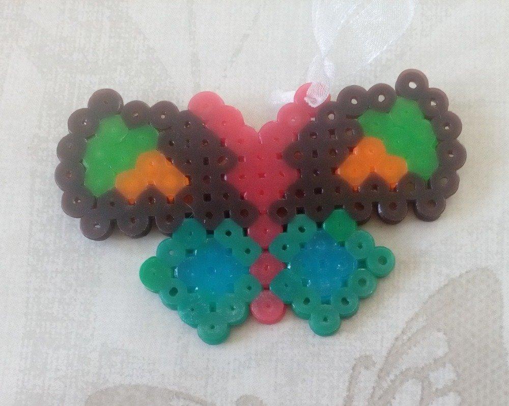 Grigri De Sac Ou Modèle Enfant Papillon Pixel Arts Hama Beads